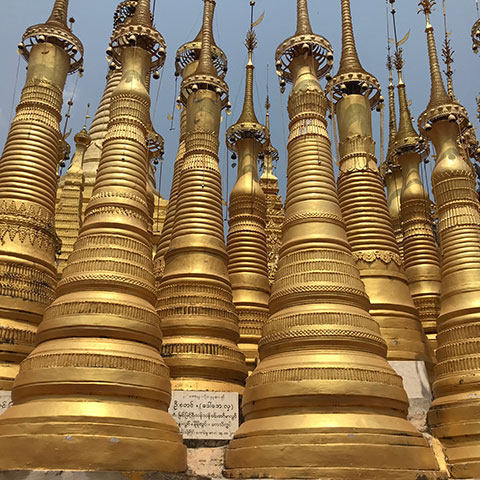 The Stupas of Shan, Myanmar
